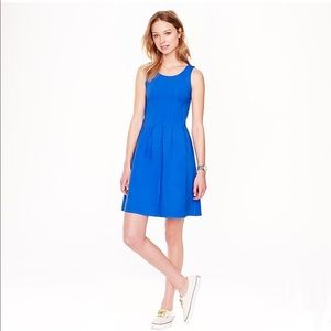 NWT J. Crew | Blue Pleated Flair Dress | Size 6